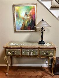 Console table & original art