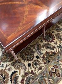 Coffee table & area rug