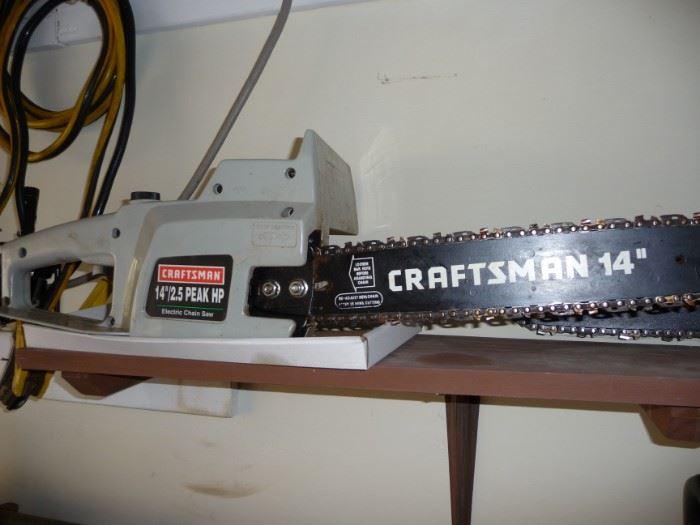 multiple chain saws