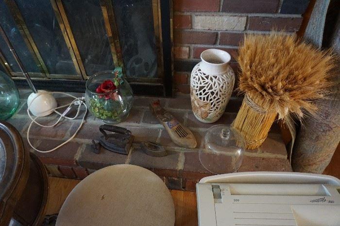 cast iron irons, vases