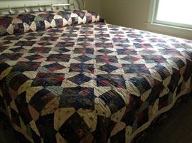 Hand made king quilt