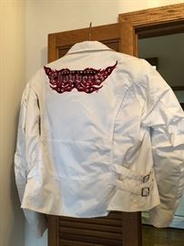 White Power trip motor cycle jacket with Choppers Logo