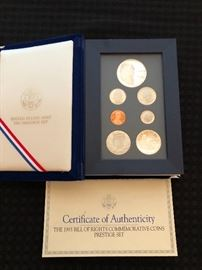 The 1993 Bill of Rights Commemorative Coins Prestige Set