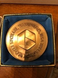 Bronze Medal from Franklin Mint of the Expo 74 Worlds Fair in Spokane, Washington