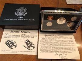 1997 United States Mint Premier Silver Proof Set