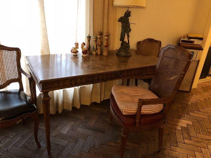 Heritage furniture co. Italian style walnut writing desk