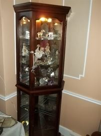 curio cabinet and smalls collectibles