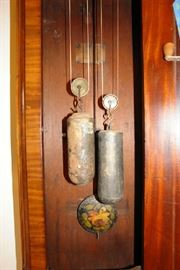 Weights and hand painted pendulum
