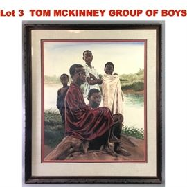 Lot 3 TOM MCKINNEY GROUP OF BOYS STANDING AND SITTING N