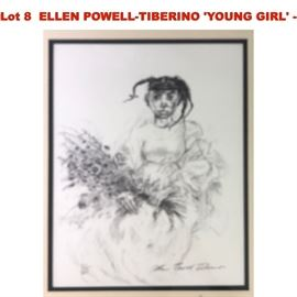 Lot 8 ELLEN POWELLTIBERINO YOUNG GIRL  Signed in pe