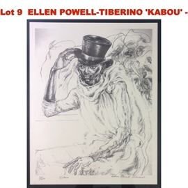 Lot 9 ELLEN POWELLTIBERINO KABOU  Signed in pencil