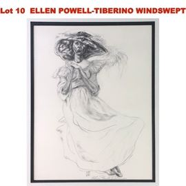 Lot 10 ELLEN POWELLTIBERINO WINDSWEPT WOMAN WITH BONNET