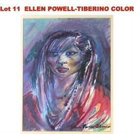 Lot 11 ELLEN POWELLTIBERINO COLOR DRAWING OF A GIRL Be