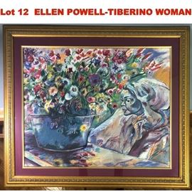 Lot 12 ELLEN POWELLTIBERINO WOMAN WITH FLOWERS  Pencil