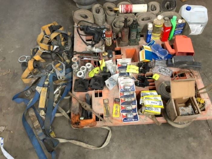 Large Lot of Tools Safety Climbing Gear Solder Tra ...