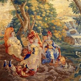 Lot 5243927: Flemish Mythological Garden Tapestry, Brussels, Belgium, 18th Century