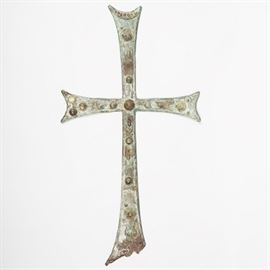 Lot 5243925: Byzantine Bronze or Copper over Iron Cross, 6th / 10th Century