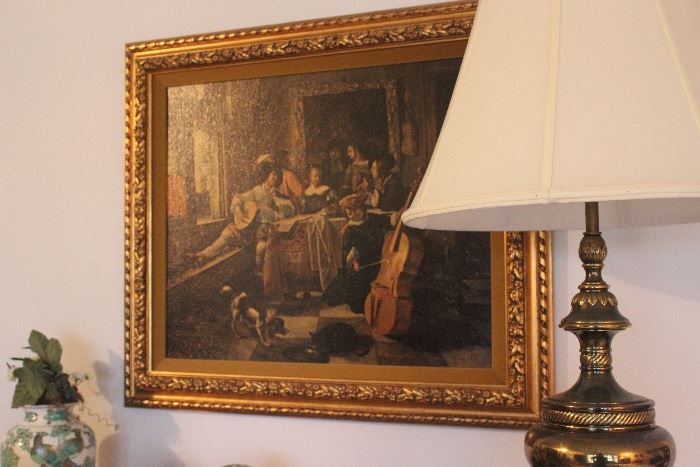 Painting with Gilt Frame