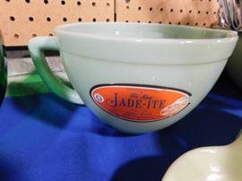 Vintage Jadeite Mixing bowl with label
