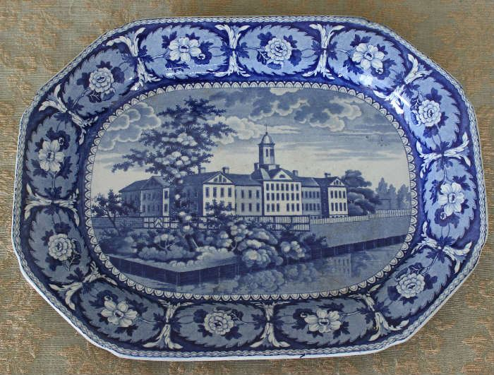 Adams house NY Staffordshire platter