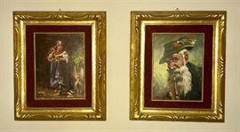 Oil paintinga from Italy Lanzi