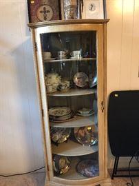 Curio cabinet, international demitasse cup sets