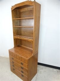 Ethan Allen Chest of Drawers with Shelf Topper