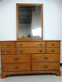 Ethan Allen Early American Dresser with Mirror