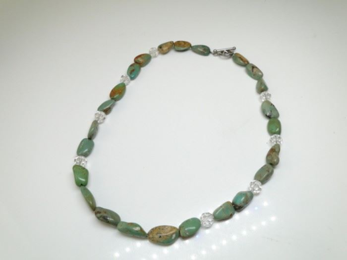 925 Silver and Royston Turquoise Necklace