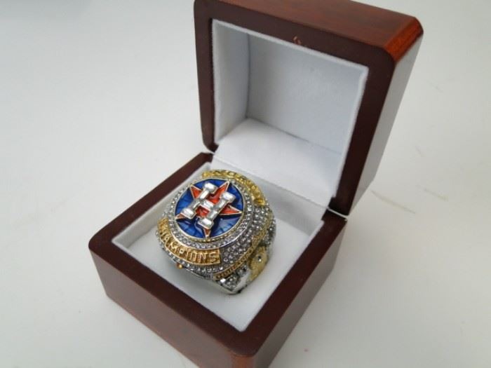 2017 Astros World Series Champs Ring in Display