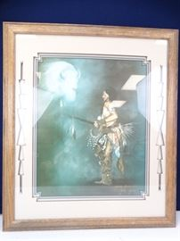 Framed Matted Signed Limited Edition Indian