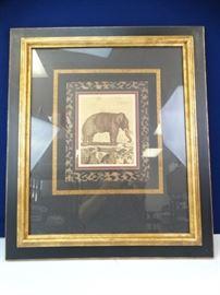 Framed Elephant Printing