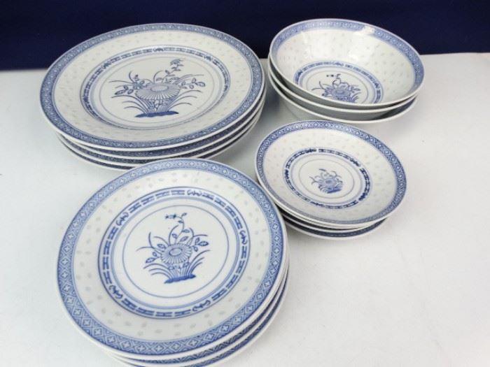 Dutch China Plate Set