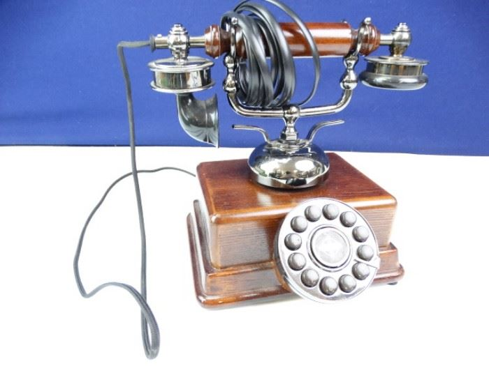 Wooden Telephone and Receiver