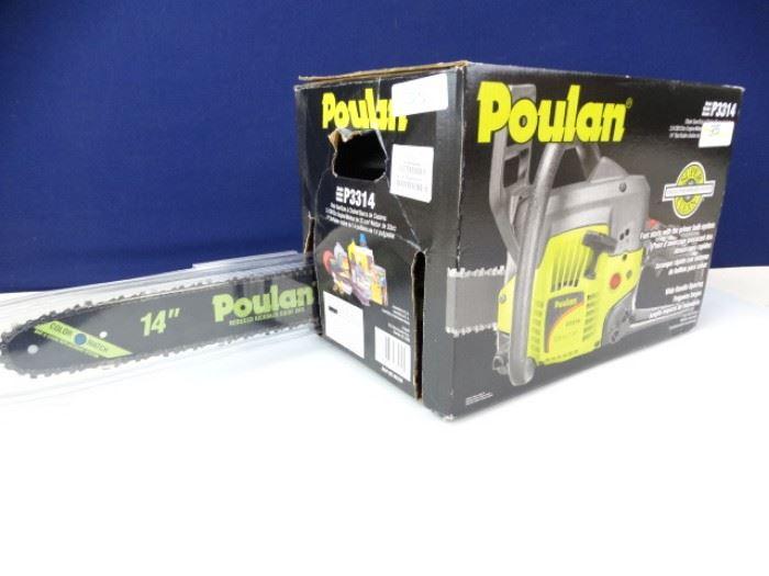 New in Box Poulan Chain Saw