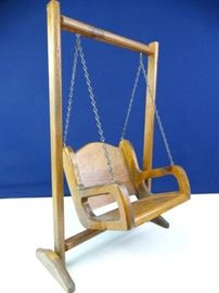 Handcrafted Solid Wood Doll Furniture Swinging