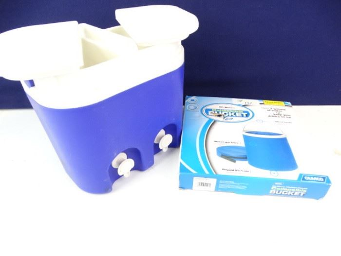 Water Cooler and Collapsible Bucket