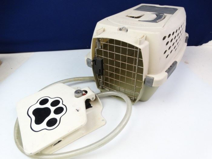 Dog Water Fountain and Animal Carrier