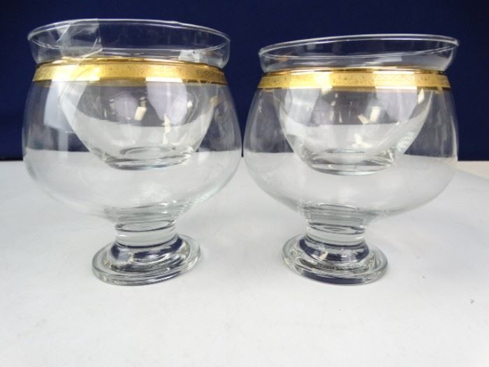 Gold Trim Shrimp Cocktail Bowls