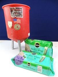 Sand Blaster Hopper and Fertilizer Spikes