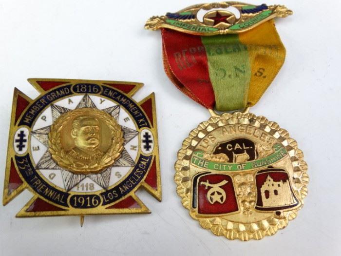 ShrinerKnights Templar Medals