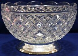 Sterling base crystal bowl
