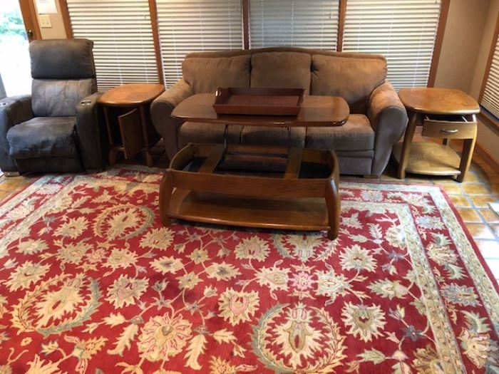Another view of furniture with coffee table open