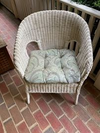 Wicker chair - cushion sold separately
