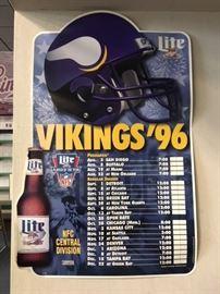 Vikings Schedule Poster