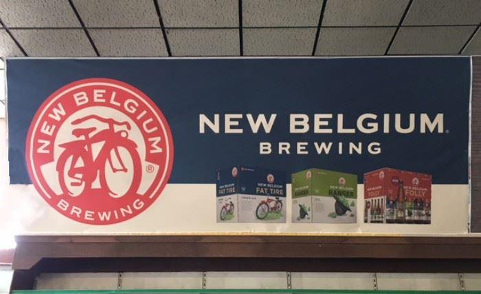 New Belgium Brewing Poster, 5' X 13'