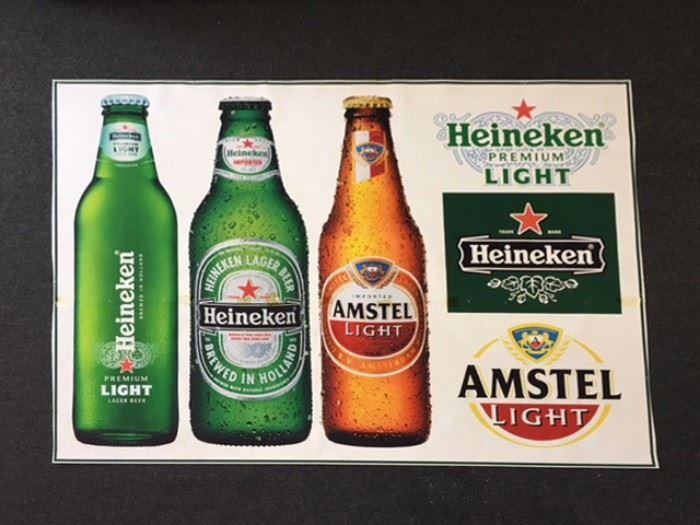 Heineken / Amstel Light Poster, 5' X 7'