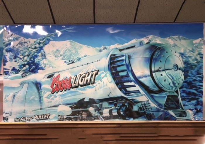 "Coors Light Silver Bullet Poster, 10'1"" x 5'"