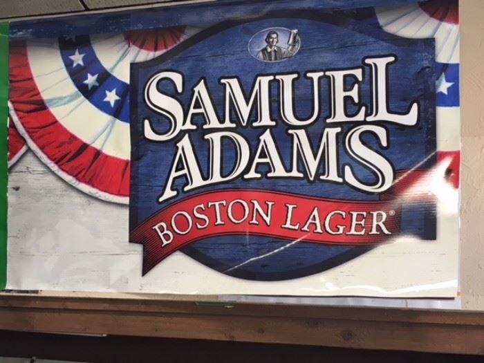 Samuel Adams Boston Lager Poster, 8' x 5'