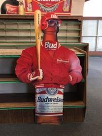 """Baseball man is a cardboard cutout 6' tall X 3'5"""" wide."""